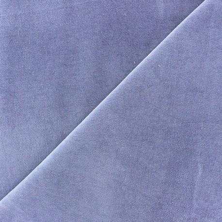 Tissu velours ras Melda Parme x10cm