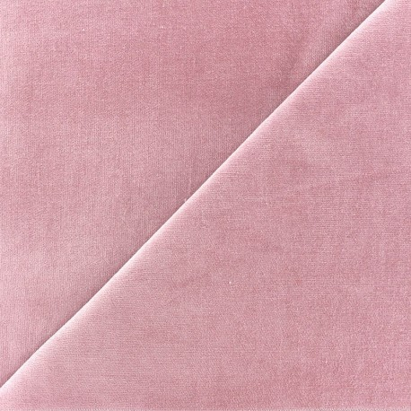 Short Melda velvet fabric - barbapapa x10cm