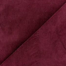 Tissu velours ras Melda Grenat x 10cm