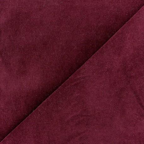 Short Melda velvet fabric - garnet x10cm