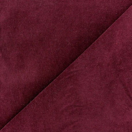 Tissu velours ras Melda Grenat x10cm