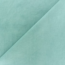 Short Melda velvet fabric - green sea x10cm