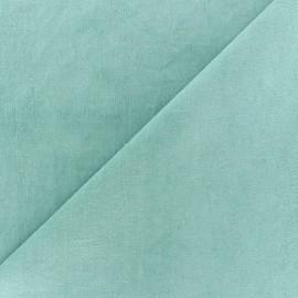 Tissu velours ras Melda Vert d'eau x 10cm