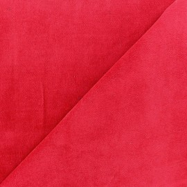 Short Melda velvet fabric - red x10cm