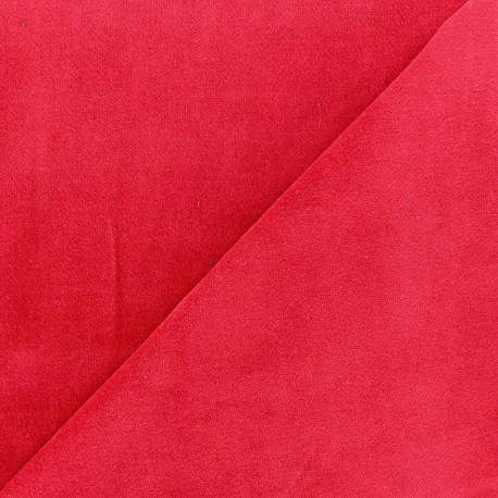 Tissu velours ras Melda Rouge x 10cm