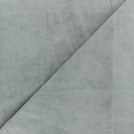 Short Melda velvet fabric - pearl grey x10cm