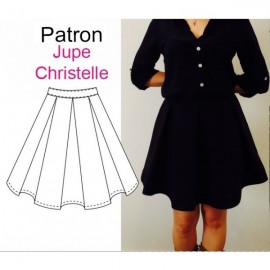 """""""Christelle"""" Skirt sewing pattern from women - multicolored"""