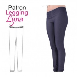 """Long john pants Lyna"" sewing pattern for women - multicolored"