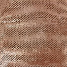 ♥ Coupon 210 cm X 130 cm ♥ Tissu Paillettes cousues Matisa cuivre