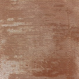 ♥ Only one piece 210 cm X 130 cm ♥  Matisa sewn Sequin Fabric - Copper