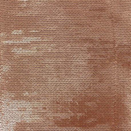 Tissu Paillettes cousues Matisa argent x10cm