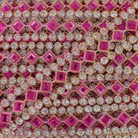 Galon plastique Diamonds argent x 50cm