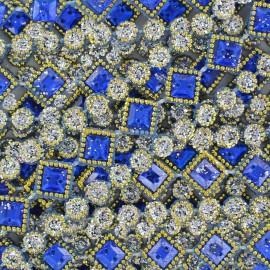 Galon plastique Diamonds rose x 50cm