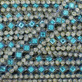Galon plastique Diamonds bleu x 50cm