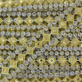 ♥ Coupon 60 cm ♥ Diamonds braid trimming  - yellow