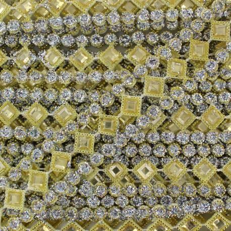 Galon plastique Diamonds turquoise x 50cm
