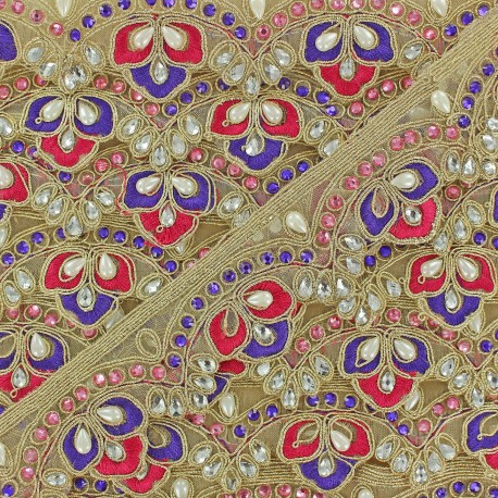 Braid Trimming, India Royal x 50cm - mauve