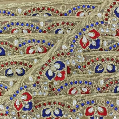 Braid Trimming, India Royal x 50cm - Blue