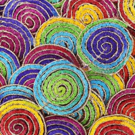 Galon India Flower Rainbow x 50cm