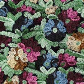 Galon India Flower and Paisley blanc x 50cm
