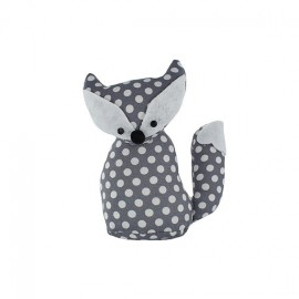 Fox pincushion Little white dots - grey