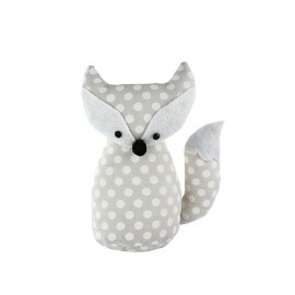 Fox pincushion Little white dots - light beige