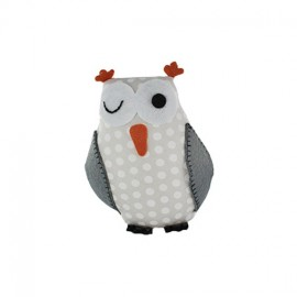 Owl pincushion Little white polka dots - beige