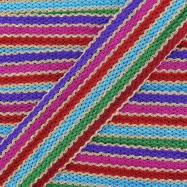 Braid trimming ribbon, India Casablanca x 50cm - multicolored
