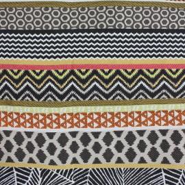 Tissu Amazonie rayure bayadere or noir x 35cm