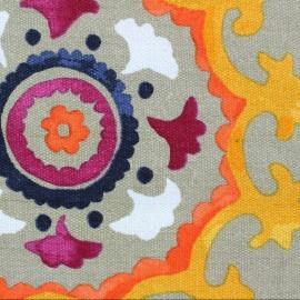 Tissu Suzani lin x 28cm