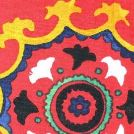 Tissu Suzani rouge x 28cm