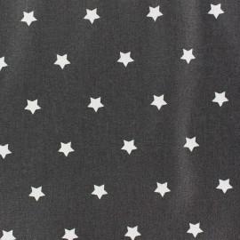 Tissu enduit Etoiles MAGIC  blanc / antrahcite x 10cm