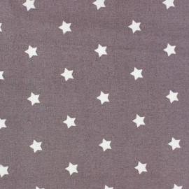 Tissu enduit Etoiles MAGIC  blanc / figue x 10cm