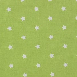 Coated Fabric - Stars MAGIC white/lime x 10cm