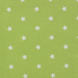 Tissu enduit Etoiles MAGIC blanc / anis x 10cm