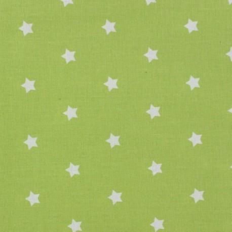 coated fabric stars magic white lime x 10cm ma petite mercerie. Black Bedroom Furniture Sets. Home Design Ideas