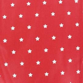 Tissu enduit Etoiles MAGIC  blanc / rouge x 10cm