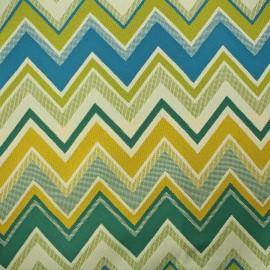 Fabric - Zig-zag Lampas Chevron lagoon x 10cm