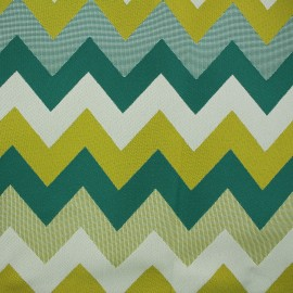 Fabric - Chevron Lampas green x 10cm