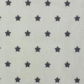 Tissu enduit Etoiles MAGIC  beige / taupe x 10cm