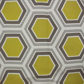 Fabric - Tomette Lampas Hexagone gold x 20cm