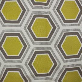 Tissu Tomette Lampas Hexagone gold x 20cm
