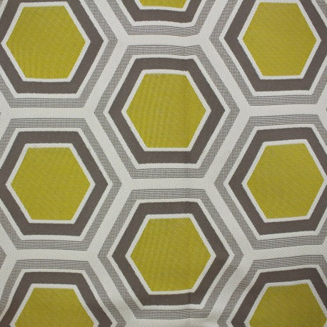 Fabric - Tomette Lampas Hexagone gold x 10cm