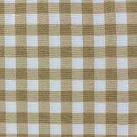 Tissu toile de coton Carola Beige x 10cm