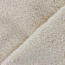 Tissu éponge beige clair x 10cm