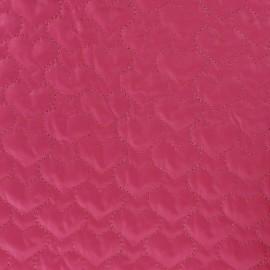 Tissu matelassé coeurs recto-verso rose x 10cm