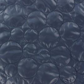 Tissu matelassé cercle recto-verso marine x 10cm