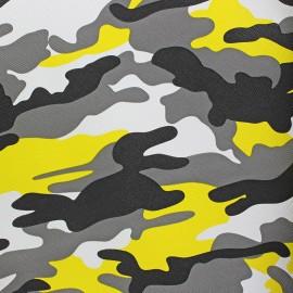 Imitation leather camouflage - yellow x 10cm