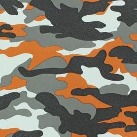 Simili cuir Camouflage jaune x 10cm