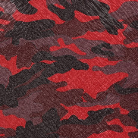 Imitation leather camouflage - red x 10cm